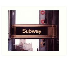 Subway Sign Art Print