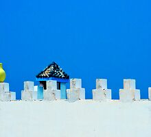 Battlements in Blue by Damienne Bingham