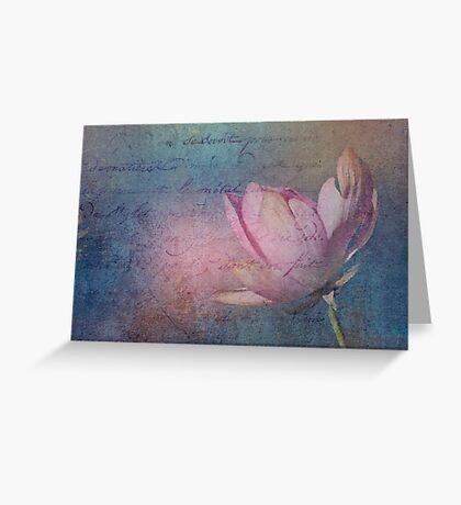 Textured Lotus Greeting Card