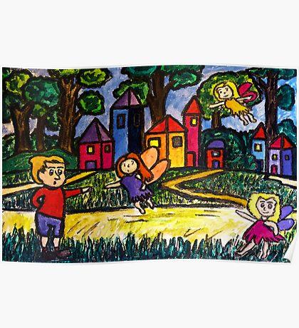 A Fairies Village Poster