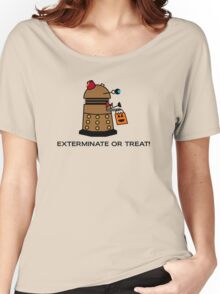 Exterminate or Treat - Full Color Women's Relaxed Fit T-Shirt