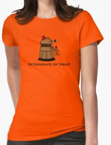 Exterminate or Treat - Full Color Womens Fitted T-Shirt
