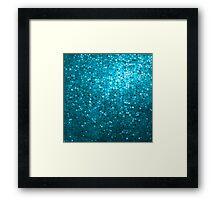 Elegant Blue Glitter & Sparkles Framed Print