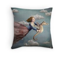 Voyage in the sky Throw Pillow