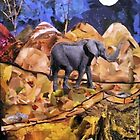 Midnight Elephant - 2 by Sabrina  Bean