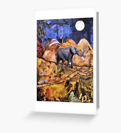 Midnight Elephant - 2 Greeting Card