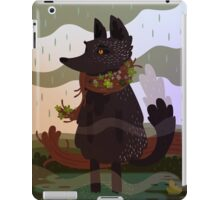 Black Fox in the Rain iPad Case/Skin