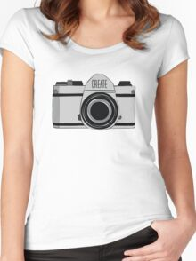 'Create' Women's Fitted Scoop T-Shirt
