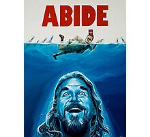 The Big Lebowski Abide Jaws Photographic Print