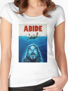 The Big Lebowski Abide Jaws Women's Fitted Scoop T-Shirt