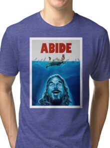 The Big Lebowski Abide Jaws Tri-blend T-Shirt