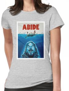 The Big Lebowski Abide Jaws Womens Fitted T-Shirt