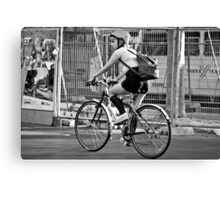 Bicycle Girl Canvas Print
