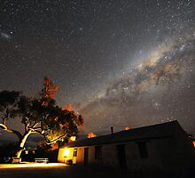 Edeowie Station Under the Milky Way by Wayne England