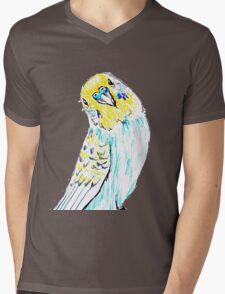 Budgie in Love Mens V-Neck T-Shirt