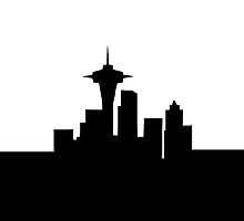 Seattle Skyline iPhone Case by Josh Marten