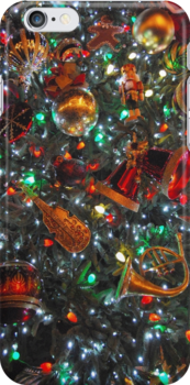 Christmas Tree iPhone Case by Ron Hannah