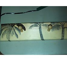 Woodburning Palm Trees Photographic Print