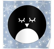 Snowy Penguin Poster