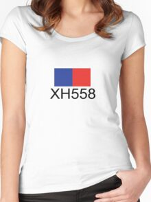Vulcan Bomber XH558 Women's Fitted Scoop T-Shirt