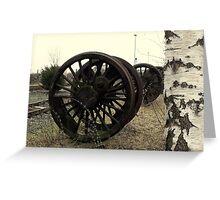 Railway Wheels By Silver Birch Greeting Card