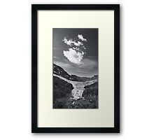 Angel Glacier Framed Print