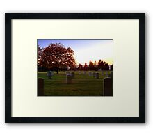Heroes' Rest Framed Print