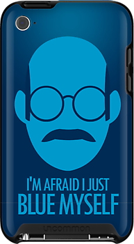 I'm Afraid I just Blue Myself | iPhone Case by Tom Trager