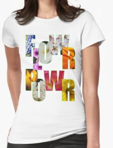 flower power t Womens Fitted T-Shirt