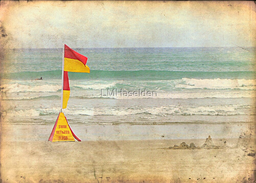 Swim between the Flags. by Lynne Haselden
