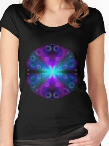 Bubbles Bokeh Effect Women's Fitted Scoop T-Shirt