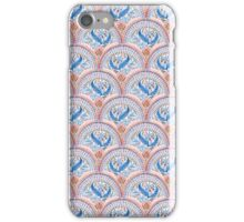 Art Deco Fresco in Sky Blue and Coral iPhone Case/Skin