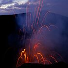Yasur Volcano erupting by Sami Sarkis