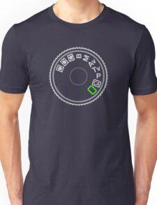 Camera Mode Dial Silver Green Unisex T-Shirt