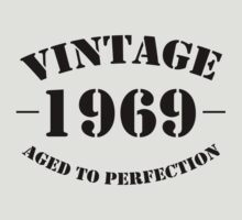 Vintage 1969 birthday by personalized
