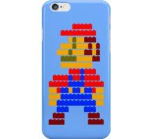 8-bit brick mario  iPhone Case/Skin