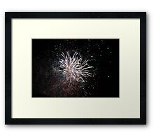 White Star Fireworks Framed Print