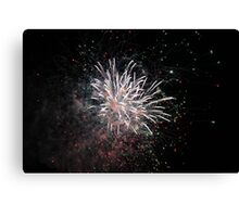 White Star Fireworks Canvas Print
