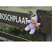 Poor little baby aren't you cold? Photographic Print