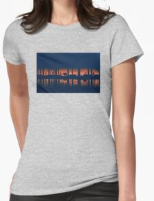 Above the city - acrylic painting Womens Fitted T-Shirt