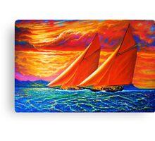Golden Sails Canvas Print