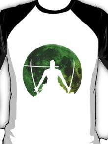 one piece straw hat roronoa zoro moon anime manga shirt T-Shirt