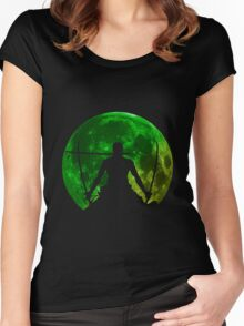 one piece straw hat roronoa zoro moon anime manga shirt Women's Fitted Scoop T-Shirt