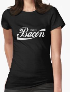 ENJOY BACON RED AND WHITE CLASSIC Womens Fitted T-Shirt