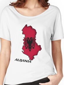 Zammuel's Country Series - Albania (English text) Women's Relaxed Fit T-Shirt
