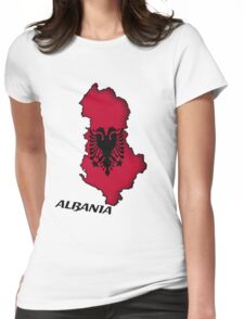 Zammuel's Country Series - Albania (English text) Womens Fitted T-Shirt