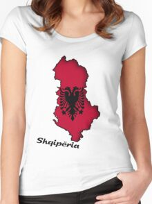 Zammuel's Country Series - Albanian (Albanian text) Women's Fitted Scoop T-Shirt