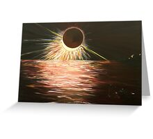 The eclipse Greeting Card