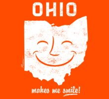 Ohio Makes Me Smile! Cool Vintage Retro Tee Kids Tee