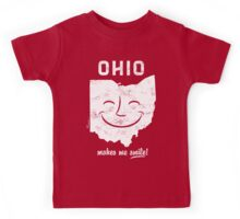 Ohio Makes Me Smile! Cool Vintage Retro Tee Kids Tee